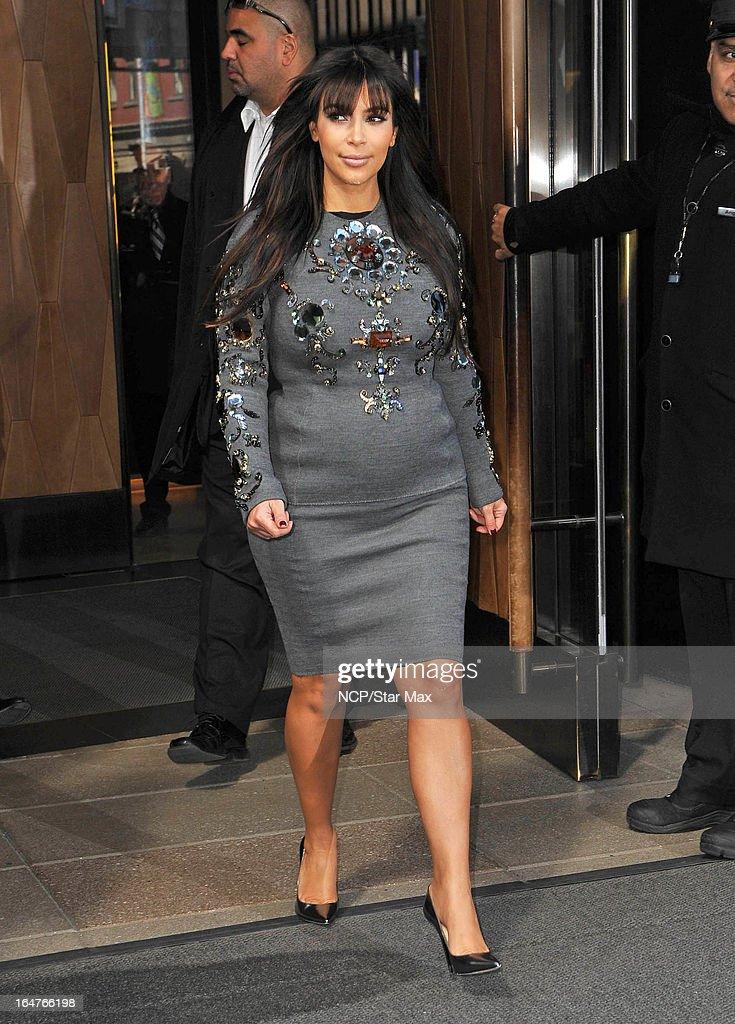 Reality Star Kim Kardashian as seen on March 26, 2013 in New York City.