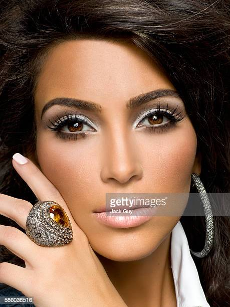 Reality star Kim Kardashian is photographed for Vegas Magazine in 2008 in Los Angeles California