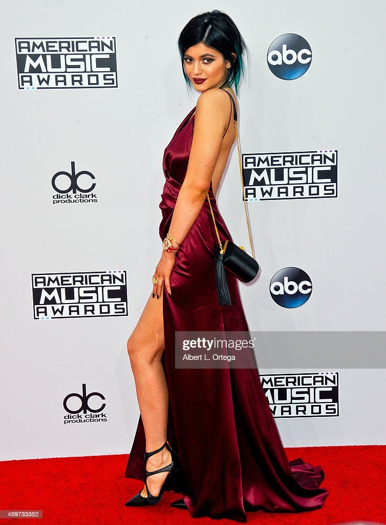 Reality star Kylie Jenner arrives for the 42nd Annual American Music Awards held at Nokia Theatre L.A. Live on November 23, 2014 in Los Angeles, California.