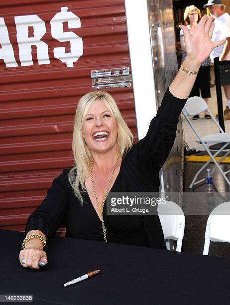 "Reality star Laura Dotson participates in A&E's ""Storage Wars"" Lockbuster Tour held in front of the Dobly Theater at Hollywood & Highland on June 12,..."