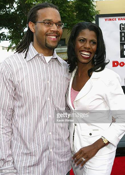 Reality star Omarosa ManigaultStallworth and husband Aaron Stallworth attend the world premiere of the Twentieth Century Fox film Dodgeball at the...