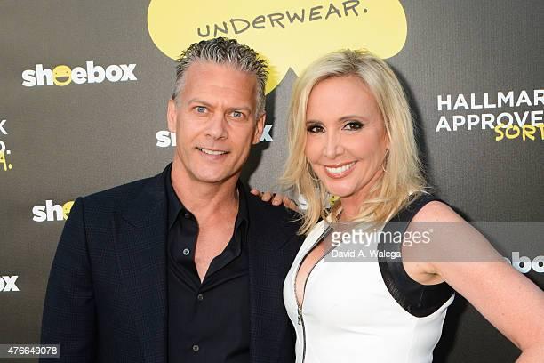 Reality star Shannon Beador and husband David Beador attend the Hallmark Shoebox 29th Birthday Celebration at The Improv Comedy Club June 10 2015 in...