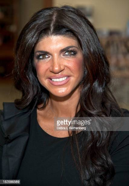 Reality star Teresa Giudice visits Midway Wine and Liquors on September 22 2012 in Scarsdale New York