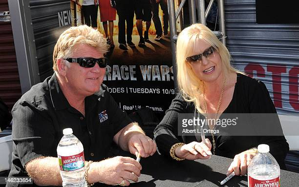 "Reality stars Dan Dotson and Laura Dotson participate in A&E's ""Storage Wars"" Lockbuster Tour held in front of the Dobly Theater at Hollywood &..."