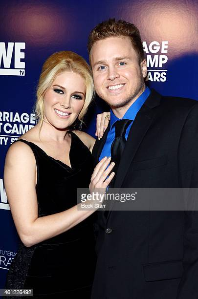 Reality stars Heidi Montag and Spencer Pratt arrive at WE TV's 'Marriage Boot Camp Reality Stars' 'David Tutera's Celebrations' premiere party at 1...