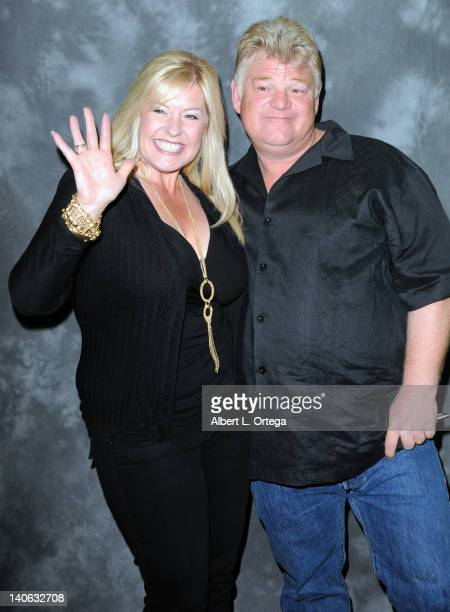 Reality stars Laura Dotson and Dan Dotson participates in Jarrod Schultz Brandi Schultz's 2nd Year Of Storage Wars Party held at Now Then Thrift...