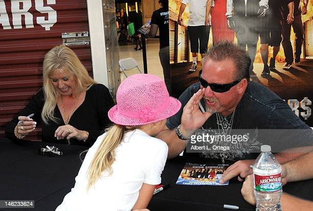 "Reality stars Laura Dotson and Darrell Sheets participate in A&E's ""Storage Wars"" Lockbuster Tour held in front of the Dobly Theater at Hollywood &..."