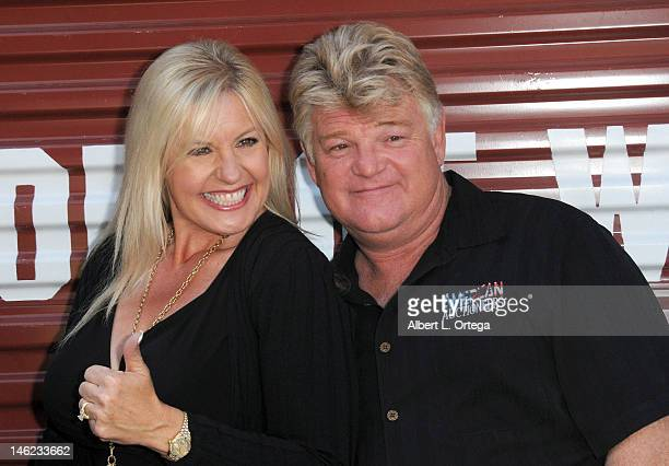 "Reality stars Laura Dotson and Laura Dotson participate in A&E's ""Storage Wars"" Lockbuster Tour held in front of the Dobly Theater at Hollywood &..."