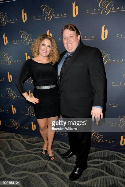 Reality Stars Rene Nezhoda and Casey Nezhoda attend the City Gala Wealth and Master poker tournament at InterContinental Hotel on January 7 2018 in...