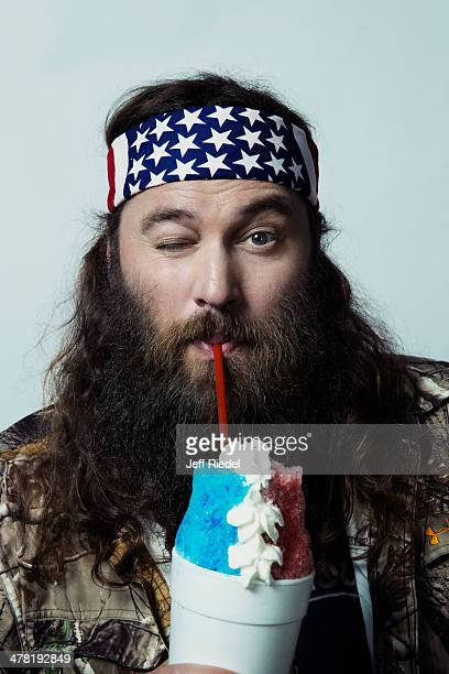 Reality television personalities from Duck Dynasty Willie Robertson is photographed for GQ Magazine on October 24 2013 in West Monroe Louisiana...