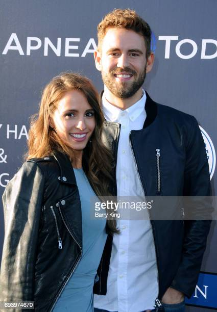 Reality Television personalities Vanessa Grimaldi and Nick Viall attend Los Angeles Dodgers Foundation's 3rd Annual Blue Diamond Gala at Dodger...