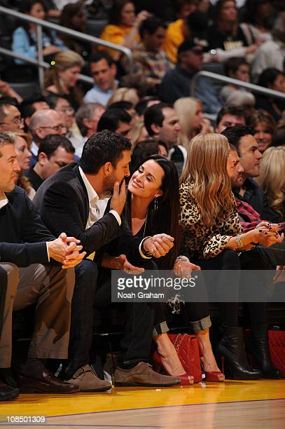 Reality television personality Kyle Richards and her husband Mauricio Umansky attend a game between the Sacramento Kings and the Los Angeles Lakers...