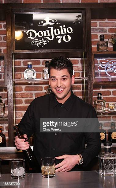 Reality television personality Rob Kardashian attends the Tequila Don Julio 70 launch party on November 17 2011 in Venice California
