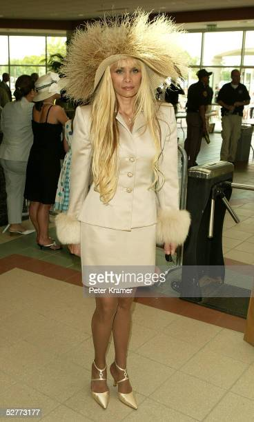 Reality television personality Victoria Gotti arrives at the 131st Kentucky Derby at Churchill Downs racetrack on May 7 2005 in Louisville Kentucky