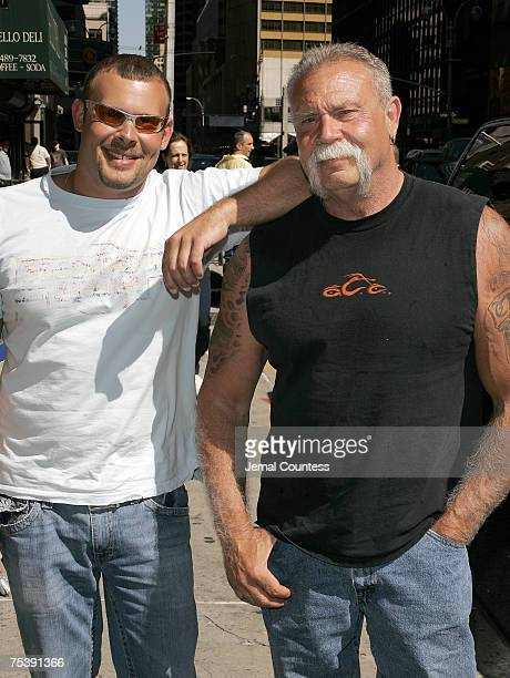 Reality Television Personalitys Paul Teutul Jr and Paul Teutul Sr of the Series American Chopper arrive at the Ed Sullivan Theater for a taping of...