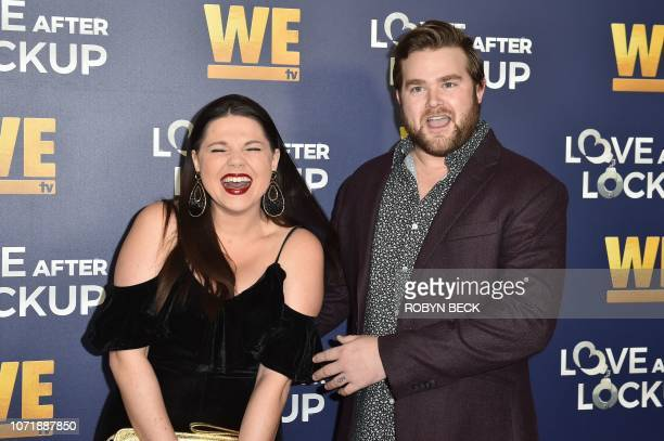 Reality television stars Amy Duggar and Dillon King arrive for WE tv celebrates the return of 'Love After Lockup' on December 11 2018 at the Paley...