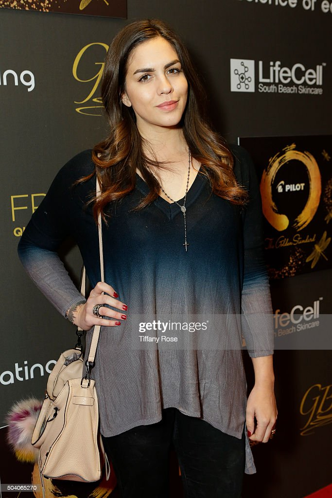 Reality T.V. actress Katie Maloney attends the GBK & Pilot Pen Golden Globes 2016 Luxury Lounge - Day 1 at W Hollywood on January 8, 2016 in Hollywood, California.