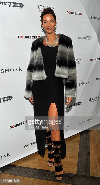 Reality TV Celebrity Nicole Murphy attends the launch of Shanna Moakler and Mayte Garcia's new clothing line Fauxy Fauxture at Bootsy Bellows on...