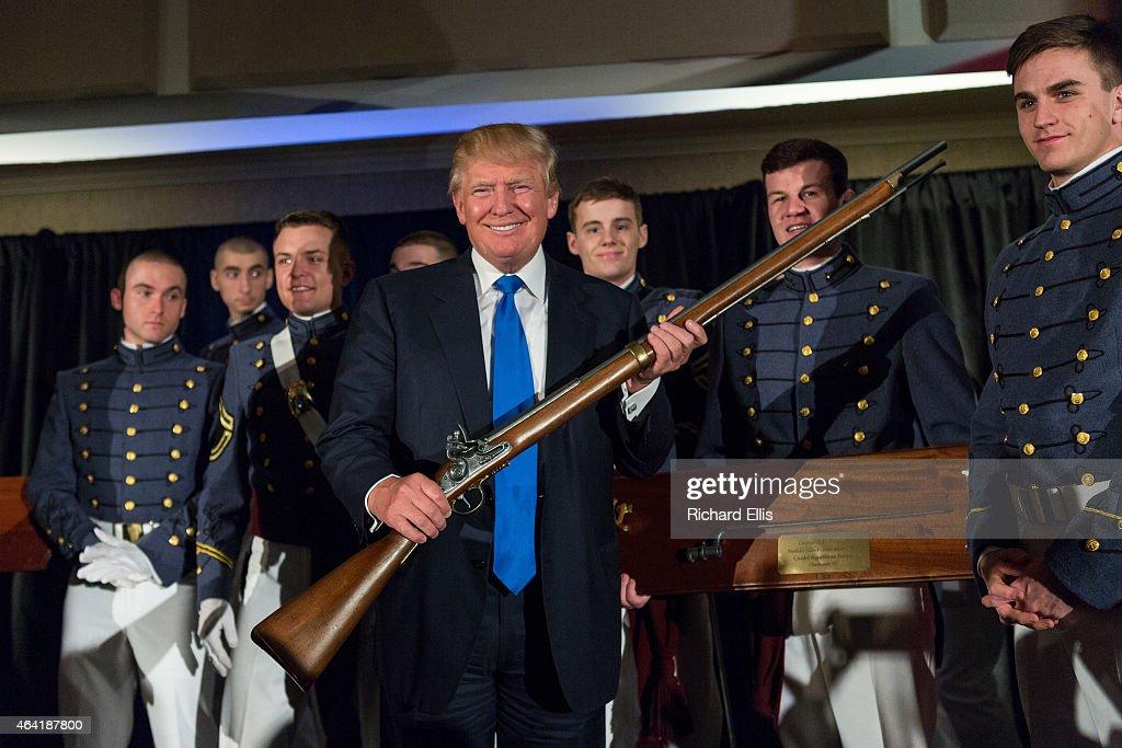 Giuliani, Trump, Santorum And Scott Address Citadel Republican Society : News Photo