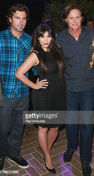 Reality TV Personalities Brody Jenner Kim Kardashian and Bruce Jenner attend the release party for Recording Artists Brandon and Leah's new EP...