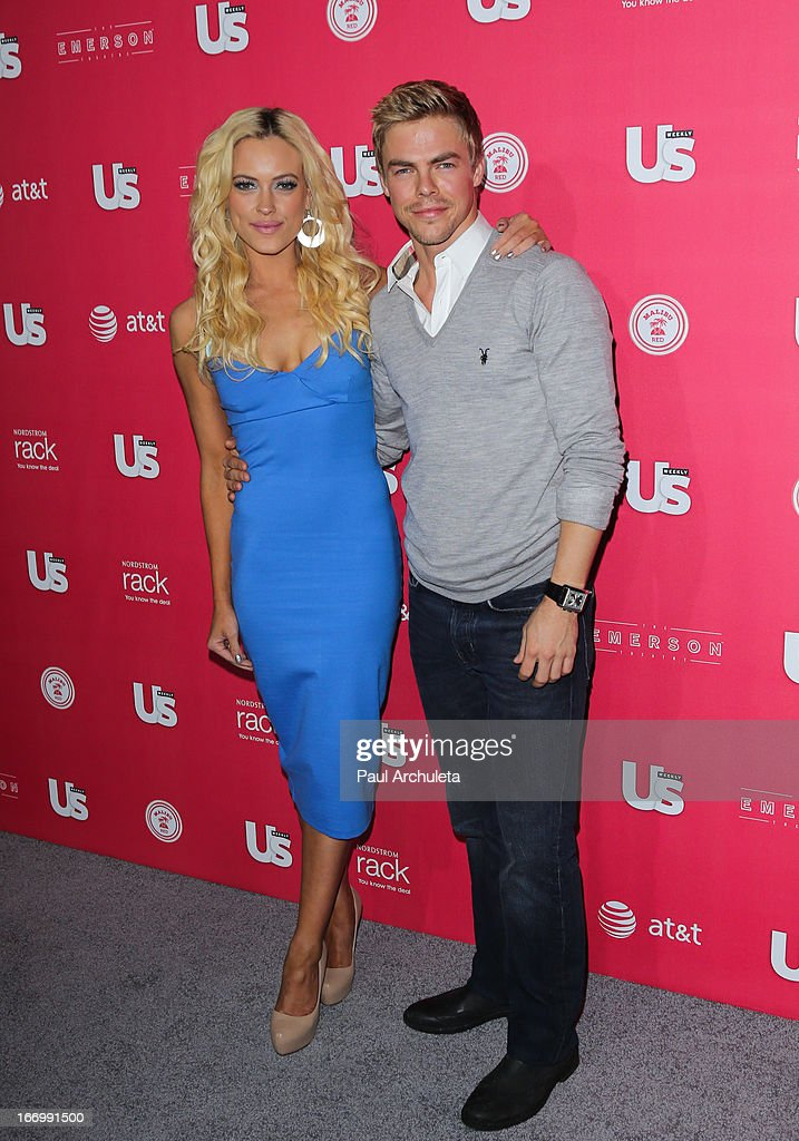 Reality TV Personalities / Dancers Petra Murgatroyd (L) and Derek Hough (R) attend Us Weekly's annual Hot Hollywood Style issue party at The Emerson Theatre on April 18, 2013 in Hollywood, California.