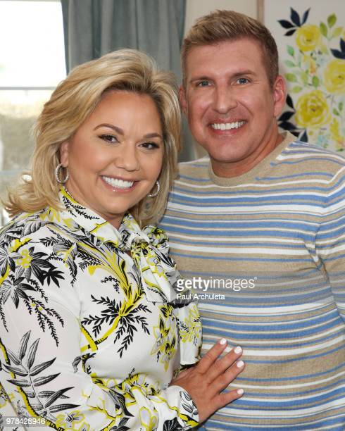 Reality TV Personalities Julie Chrisley and Todd Chrisley visit Hallmark's Home Family at Universal Studios Hollywood on June 18 2018 in Universal...