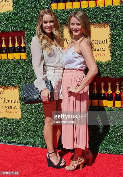Reality TV Personalities Lauren Conrad and Lo Bosworth arrive at the 2nd annual Veuve Clicquot polo classic at Will Rogers State Historic Park on...