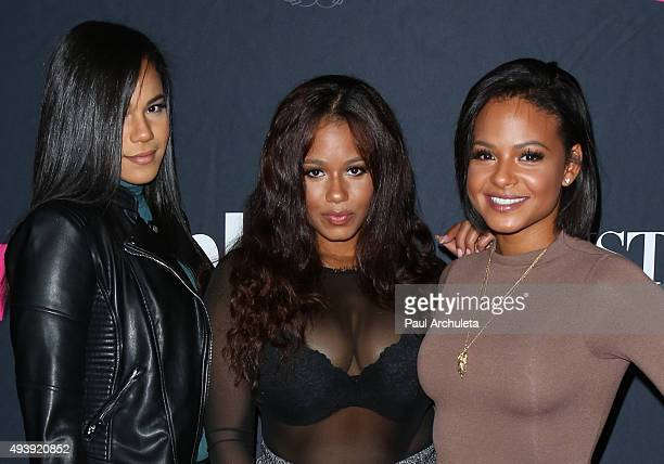 Reality TV Personalities Lizzy Milian, Danielle Milian and Christina Milian attend Star Magazine's Scene Stealers party at The W Hollywood on October...