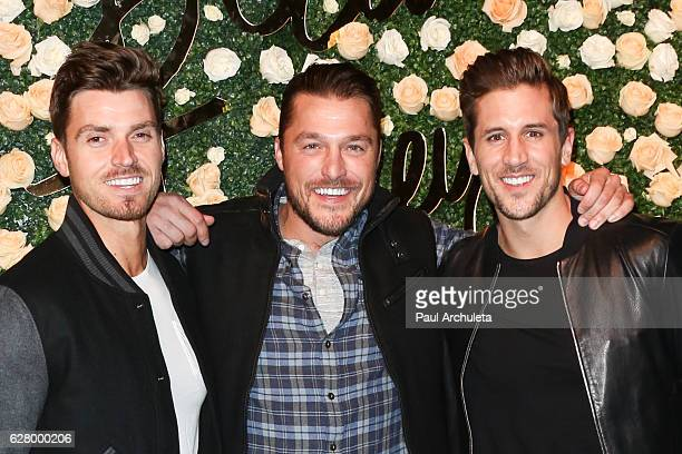 Reality TV Personalities Luke Pell Chris Soules and Jordan Rodgers attend Becca Tilley's Blog and YouTube launch party at The Bachelor Mansion on...