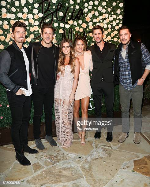 Reality TV Personalities Luke Pell Jordan Rodgers JoJo Fletcher Becca Tilley Robert Graham and Chris Soules attend Becca Tilley's Blog and YouTube...
