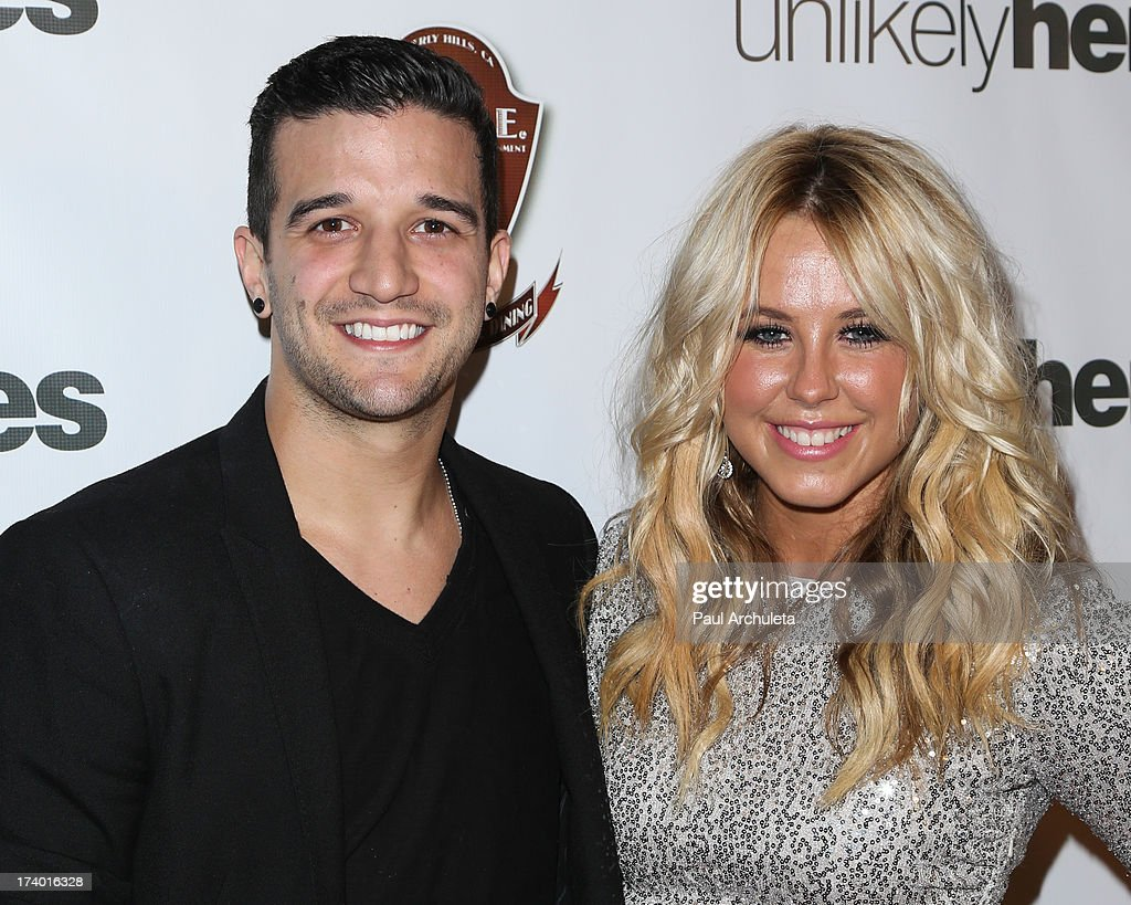 Reality TV Personalities Mark Ballas (L) and Chelsie Hightower (R) attend the birthday celebration for Chelsie Hightower and Peta Murgatroyd and also supporting the 'Unlikely Heroes' charity organization on July 18, 2013 in Los Angeles, California.