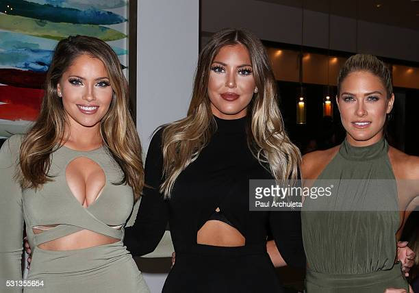 Reality TV Personalities Olivia Pierson Sophia Pierson and Barbie Blank attend Shaun Phillips surprise birthday party on May 13 2016 in West...
