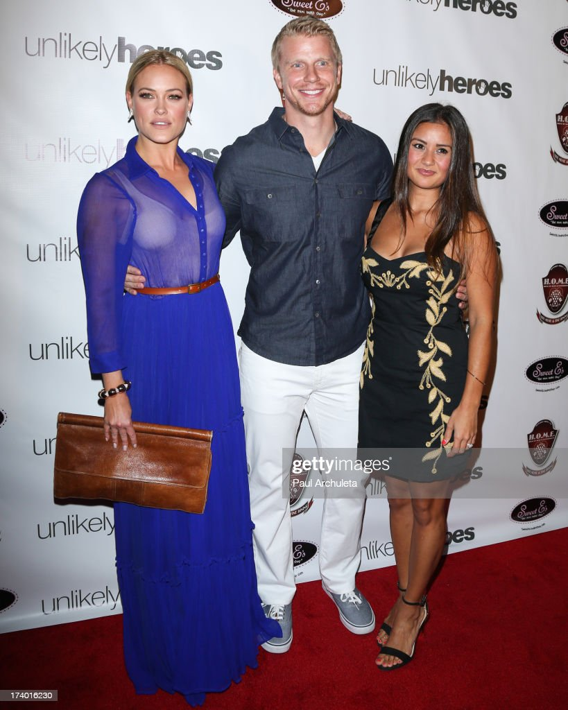 Reality TV Personalities Peta Murgatroyd, Sean Lowe and Catherine Giudici attend the birthday celebration for Chelsie Hightower and Peta Murgatroyd and also supporting the 'Unlikely Heroes' charity organization on July 18, 2013 in Los Angeles, California.