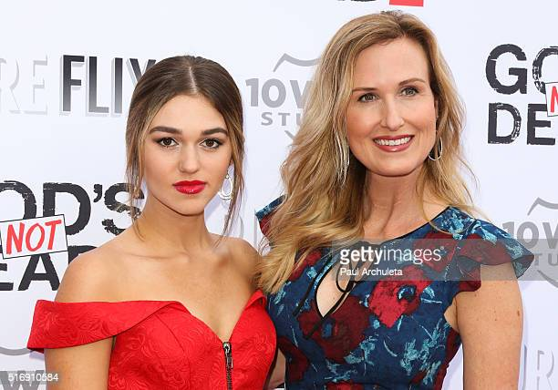 Reality TV Personalities Sadie Robertson and Korie Robertson attend the premiere of God's Not Dead 2 at Directors Guild Of America on March 21 2016...