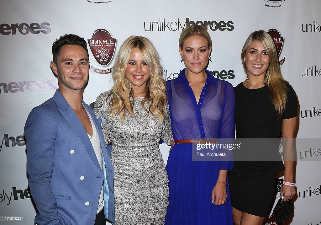 Reality TV Personalities Sasha Farber, Chelsie Hightower, Peta Murgatroyd and Emma Slater attend the birthday celebration for Chelsie Hightower and Peta Murgatroyd and also supporting the 'Unlikely Heroes' charity organization on July 18, 2013 in Los Angeles, California.