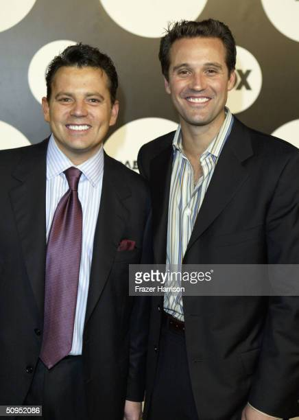 Reality TV personalities Tom Breiting and Tim Poster arrive at the Fox Network New Season Launch Event Party designed by Ugoff and sponsored by...
