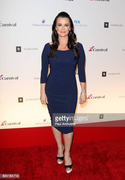 Reality TV Personality / Actress Kyle Richards attends the red carpet event for NBC's 'Celebrity Apprentice' at Westin Bonaventure Hotel on March 2...