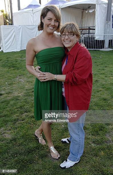 Reality tv personality Ami Cusack and Gaye Ann Bruno attend the Los Angeles Gay Pride Dyke March on June 6 2008 in West Hollywood California