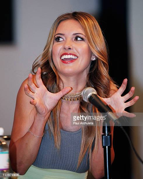Reality TV Personality Audrina Patridge attends the 2011 Reality Rocks Expo - Day 2 at Los Angeles Convention Center on April 10, 2011 in Los...
