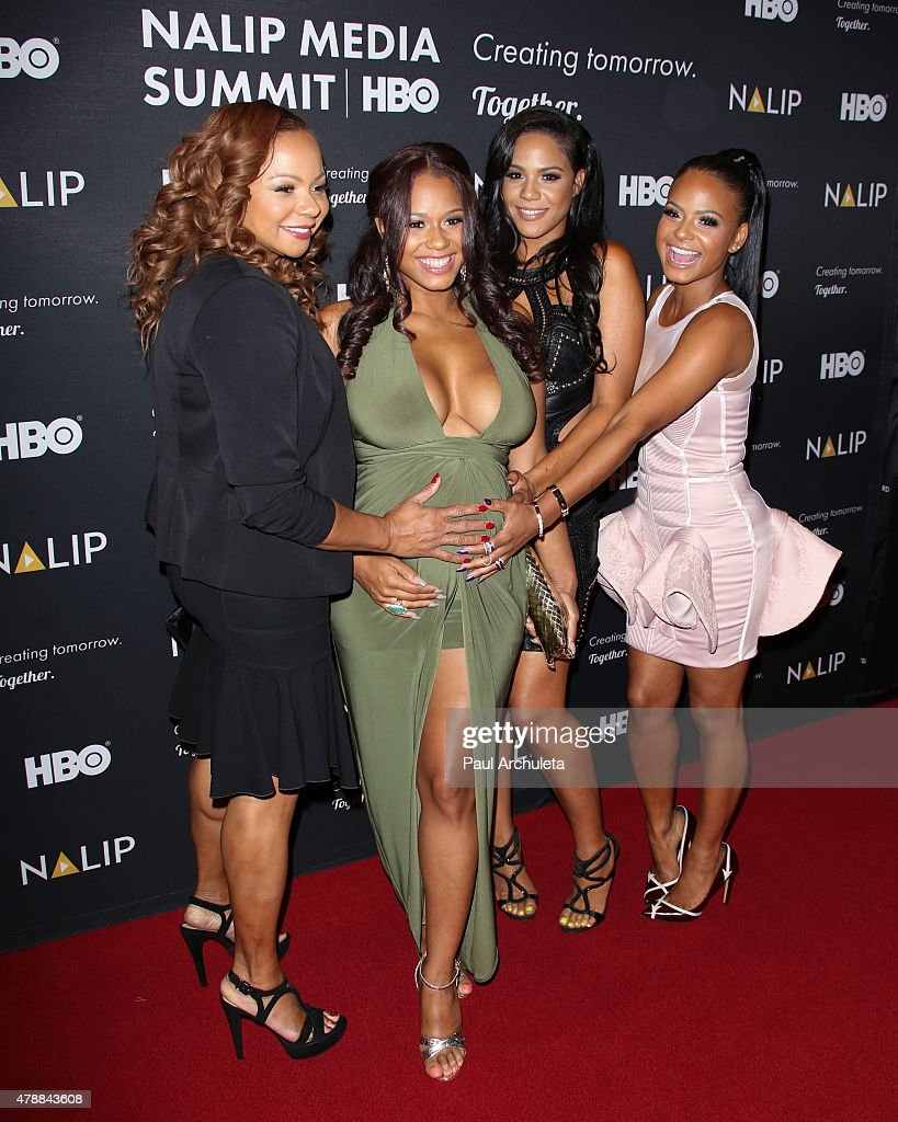 Reality TV Personality Carmen Milian, Danielle Milian Liz Milian and Christina Milian attend the NALIP 16th annual Latino Media Awards at The W Hollywood on June 27, 2015 in Hollywood, California.