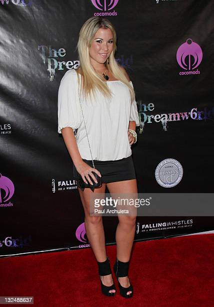 Reality TV Personality Cassie McWilliams arrives at the Falling Whistles Benefit Concert at King King on July 6 2011 in Hollywood California