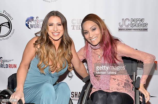 Reality TV personality Chelsie Hill and actress Angela Rockwood attend the official launch of The EPIC Project Empowering People In Chairs at Cupcake...