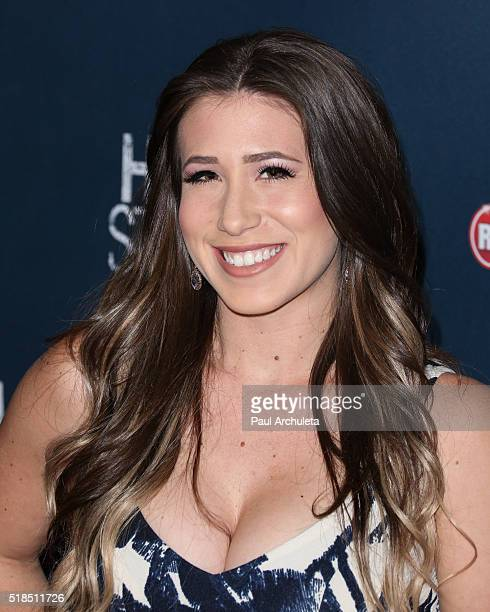 Reality TV Personality Chelsie Hill attends the premiere of High Strung at The TCL Chinese Theatre on March 29 2016 in Hollywood California