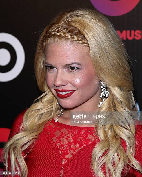 Reality TV Personality Chenelle West Coast attends the official launch party for Beats Music from Beats By Dr Dre at Belasco Theatre on January 24...
