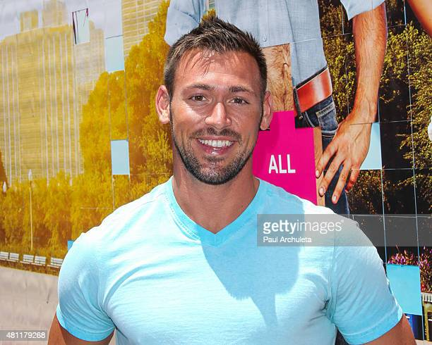 Reality TV Personality Chris Aldrich attends VH1's 'Dating Naked' Season 2 billboard unveiling on July 17 2015 in Hollywood California