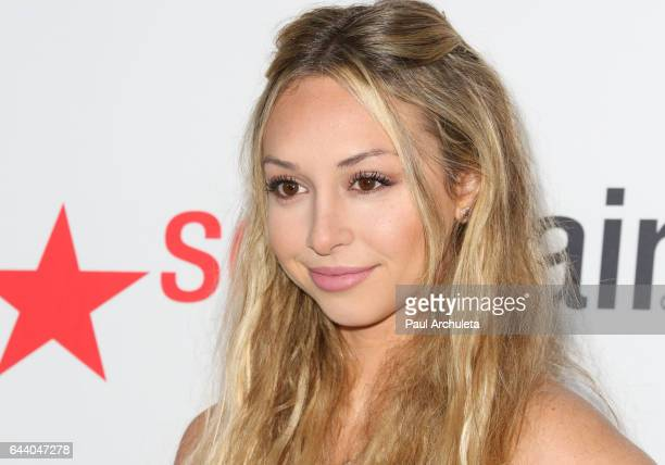 Reality TV Personality Corinne Olympios attends OK Magazine's annual preOscar event at Nightingale Plaza on February 22 2017 in Los Angeles California
