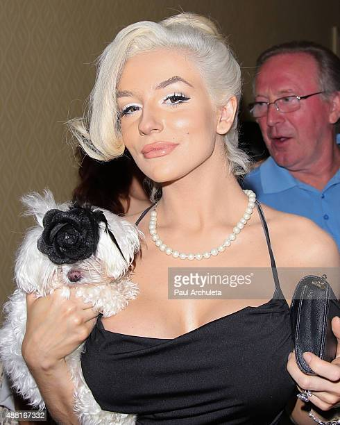 Reality TV Personality Courtney Stodden attends Putting For Pups golf tournament and gala at Brookside Golf Club on September 13 2015 in Pasadena...