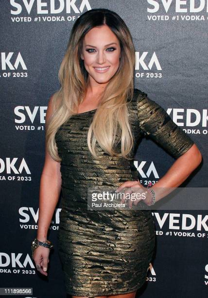 Reality TV Personality / Dancer Lacey Schwimmer arrives at the 'Night Of A Billion Stars' Reality Gala at Lexington Social House on April 7 2011 in...