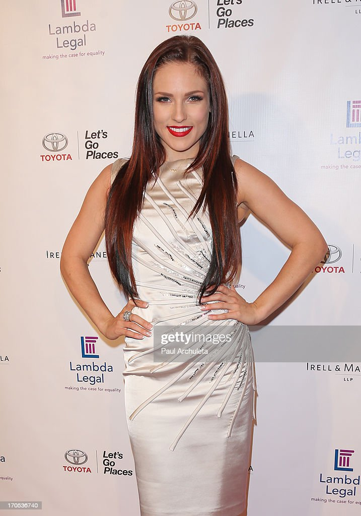 Reality TV Personality / Dancer Sharna Burgess attends the West Coast Liberty Awards celebrating Lambda Legal's 40th anniversary at The London Hotel on June 13, 2013 in West Hollywood, California.