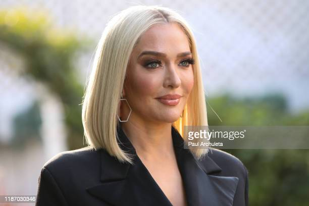 Reality TV Personality Erika Jayne visits Hallmark Channel's Home Family at Universal Studios Hollywood on November 11 2019 in Universal City...